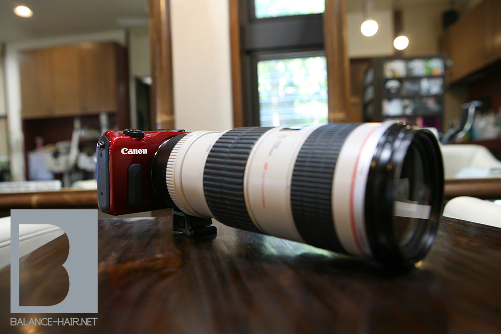 Canon EOS M EF 70-200mm f4 IS 日立市 美容室 美容院 理容室 理容院 理容店 BALANCE HAIR